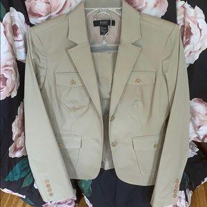 Tan blazer with skirt never worn